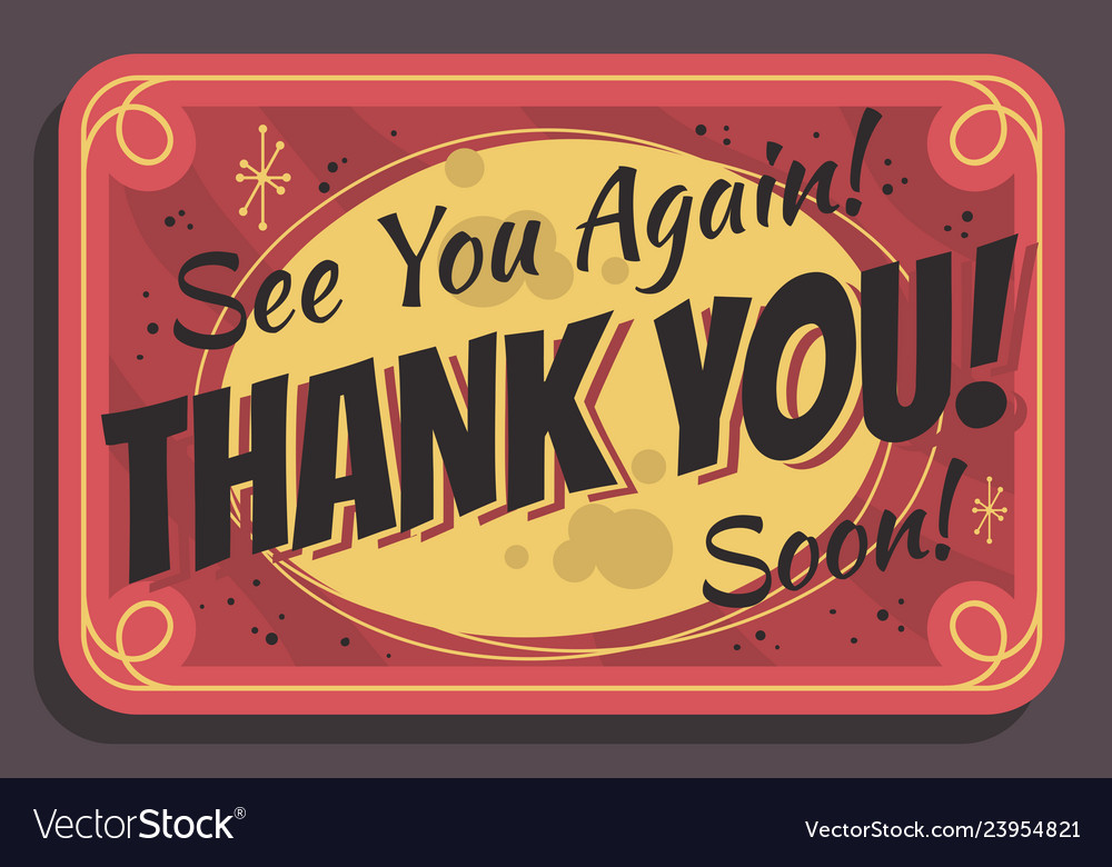 Thank you again clipart jpg royalty free download Thank you sign see you again soon typographic jpg royalty free download