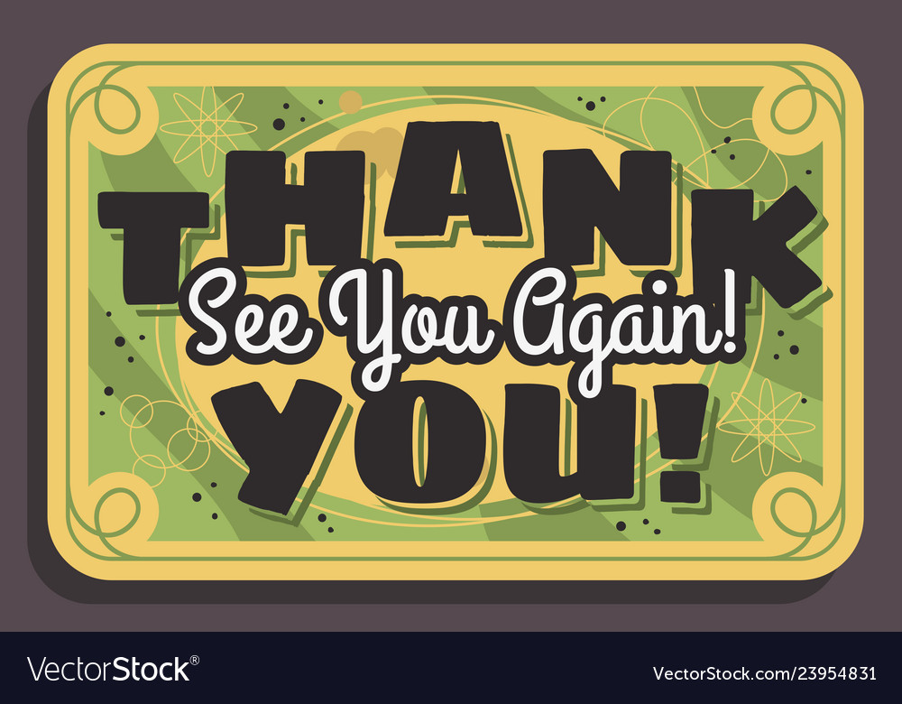 Thank you again clipart jpg black and white Thank you sign see you again typographic vintage jpg black and white