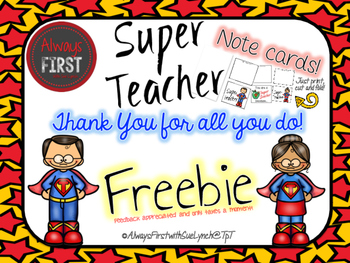 Thank you and please enjoy clipart graphic free stock Thank You Cards {FREEBIE} Super Teacher Appreciation Day! graphic free stock