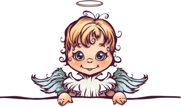 Thank you angel clipart banner royalty free stock Angel Extras – Mike Deakin Art banner royalty free stock