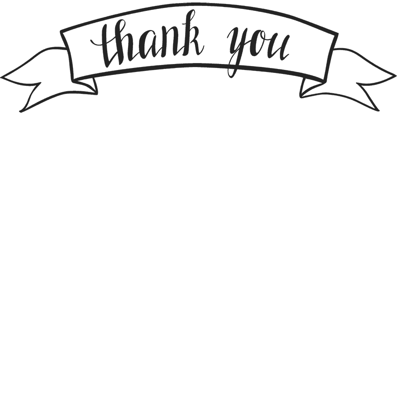 Thank you banner clipart clip free My Webpage clip free