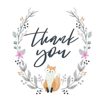 Thank you card clipart portrait svg transparent Baby Shower Thank You Cards (Free)   Greetings Island svg transparent