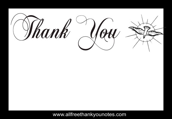 Thank you church family black and white clipart svg stock Free Religious Thank You Notes and Thank You Cards svg stock