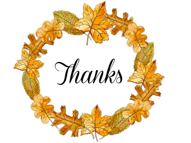 Thank you clipart fall svg transparent library thank you clipart 06 | Cards -Thank You | Thanksgiving ... svg transparent library