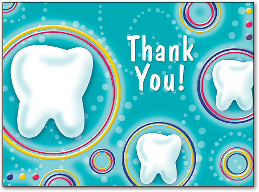 Thank you clipart tooth royalty free stock Dental Folding Cards | Benco royalty free stock