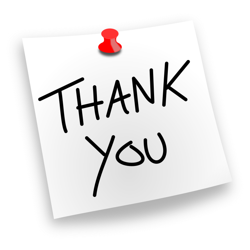 Thank you clipart white people clipart freeuse stock Thank-you-pinned-note - Amaze clipart freeuse stock