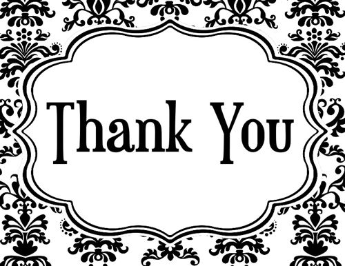 Thank you flowers clipart black and white jpg transparent stock Thank You Clipart Black And White - 68 cliparts jpg transparent stock