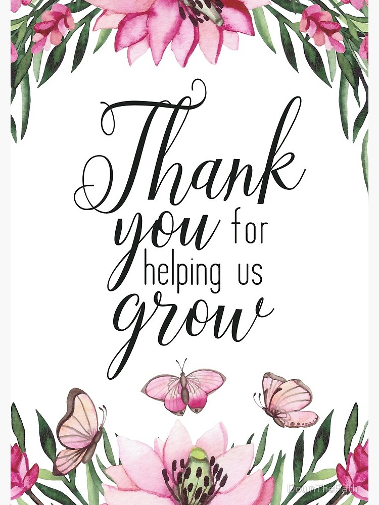 Thank you for helping us grow clipart clip art transparent library Teacher Quote - Thank You for Helping Us Grow   Spiral Notebook clip art transparent library
