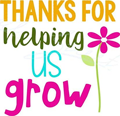 Thank you for helping us grow clipart vector Amazon.com: Diuangfoong Thanks for Helping Us Grow Teacher ... vector