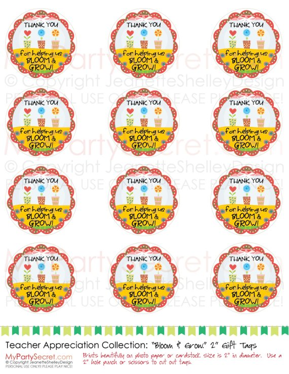 Thank you for helping us grow clipart image free download instant download..... DIY Printable Teacher Appreciation ... image free download