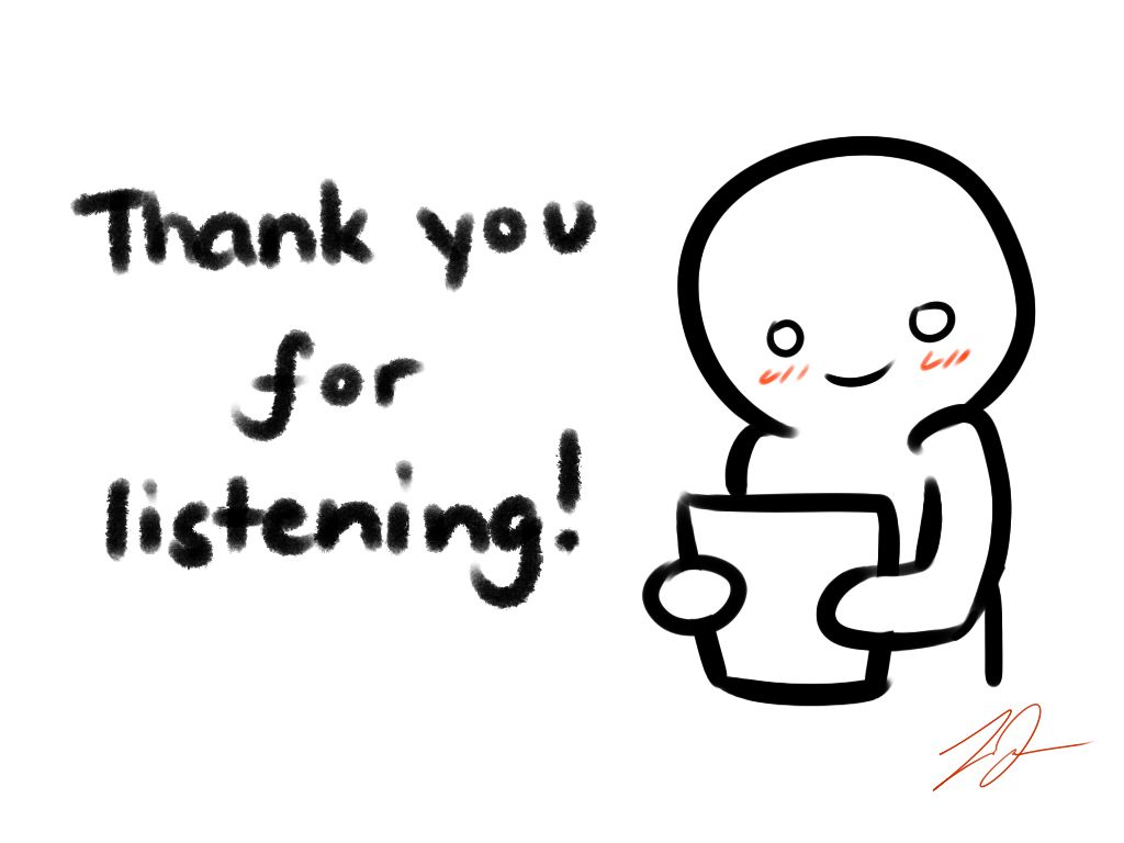 Thank you for listening cliparts picture royalty free stock Thank you for listening\' card by LyraEri.deviantart.com on ... picture royalty free stock