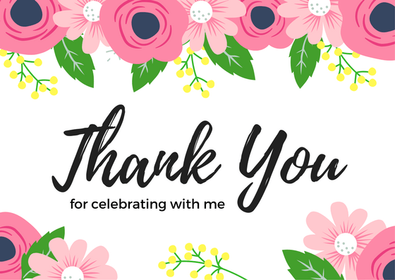 Thank you for lunch clipart svg library library Birthday Thank You Card Wording Examples svg library library
