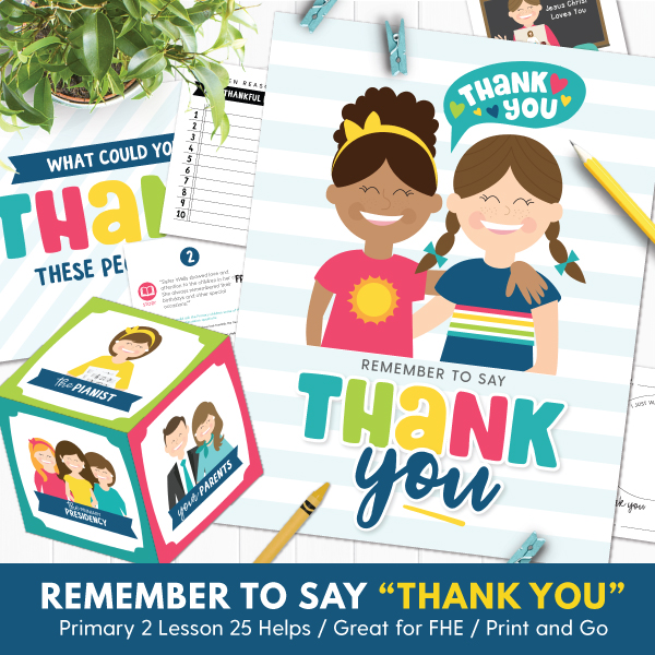Thank you for sharing clipart graphic Primary 2 (CTR) Lesson 25: Remember to Say \