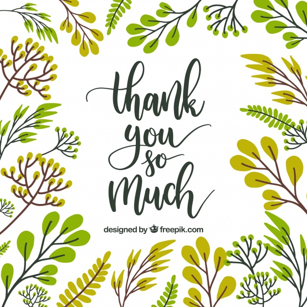 Thank you greenery free clipart clipart freeuse Thank you card floral design Vector | Free Download clipart freeuse