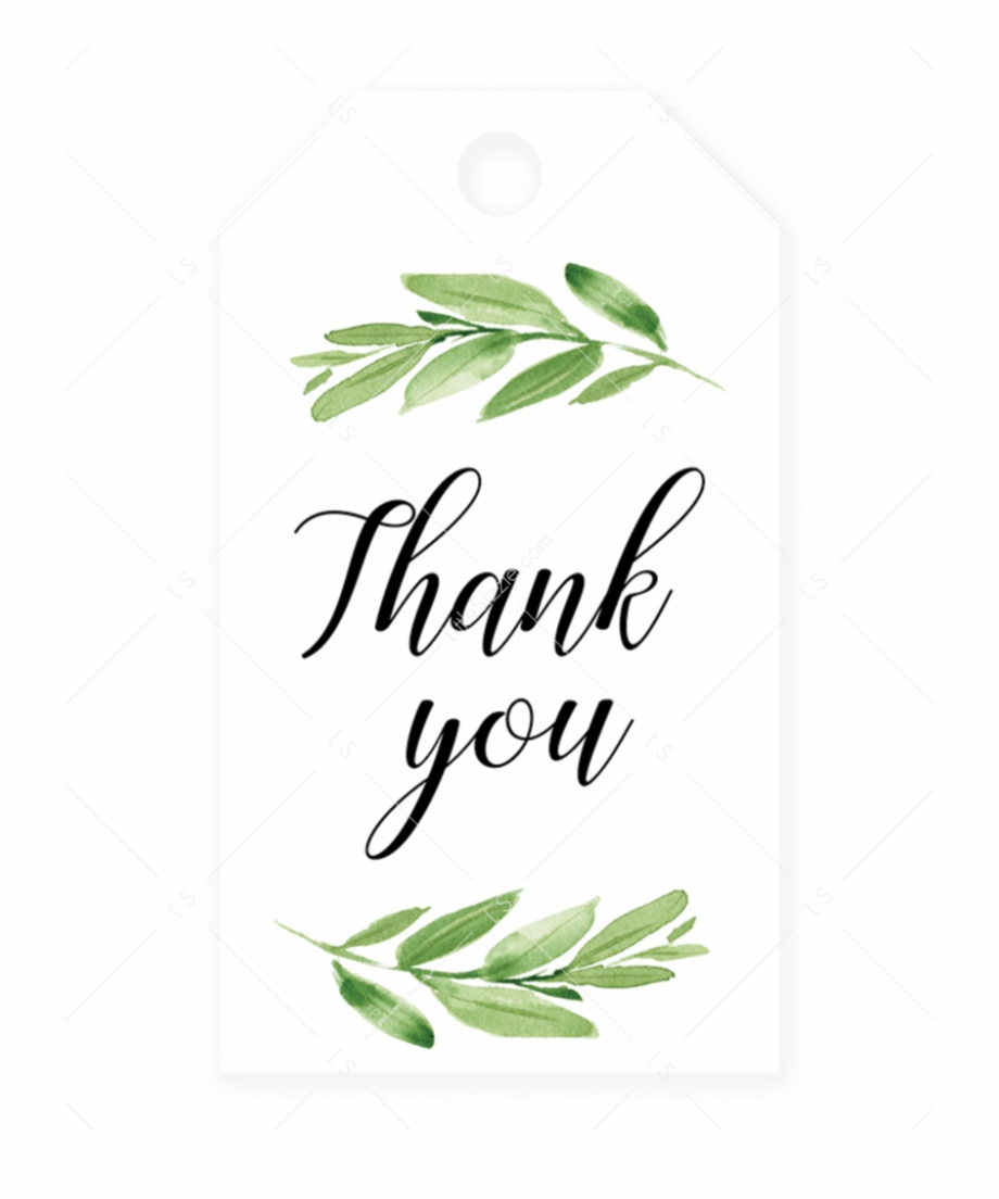 Thank you greenery free clipart png freeuse library Greenery Baby Shower Favor Tag Printable By Littlesizzle ... png freeuse library