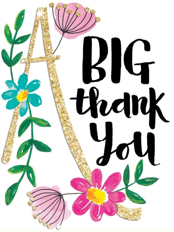 Thank you in flowers clipart banner transparent library Download big thank you flower clipart Floral design Clip art banner transparent library