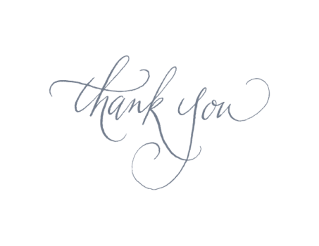 Thank you note clipart transparent