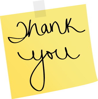 Thank you note clipart transparent clip art royalty free Note Thank You Yellow Sticky Note With The Words Thank You ... clip art royalty free