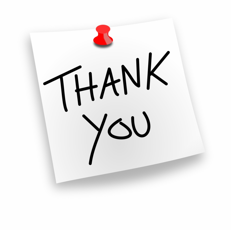 Thank you post it clipart graphic library library Thank You Png - Paper Free PNG Images & Clipart Download ... graphic library library