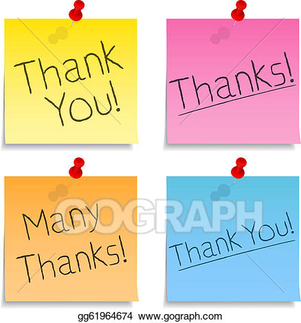 Thank you post it clipart stock Vector Illustration - Thank you post-it notes. EPS Clipart ... stock