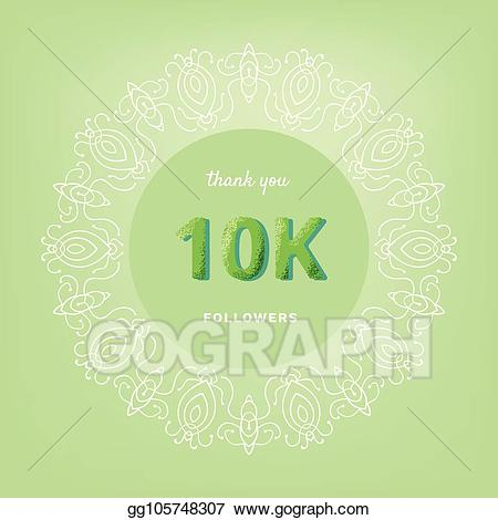 Thank you post it clipart banner stock Vector Art - 10k followers thank you post for social media ... banner stock
