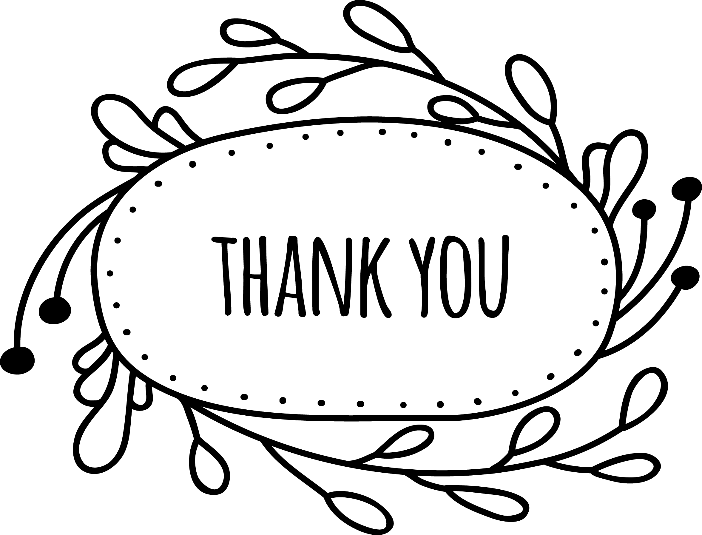 Thank you spring clipart in black and white picture freeuse Thank You Png | Free download best Thank You Png on ... picture freeuse