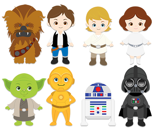 Thank you star wars clipart svg transparent stock Wall Stickers For Kids Star Wars Clipart svg transparent stock