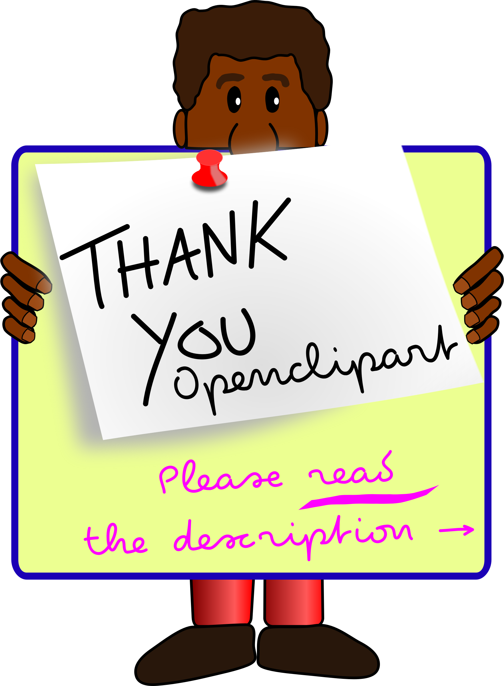 Thank you thanksgiving clipart graphic freeuse Clipart - The GʊGʊ-team is saying thank you to Openclipart graphic freeuse