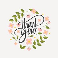 Thank you vector clipart watercolor flowers blue graphic freeuse Thank You Free Vector Art - (2,992 Free Downloads) graphic freeuse