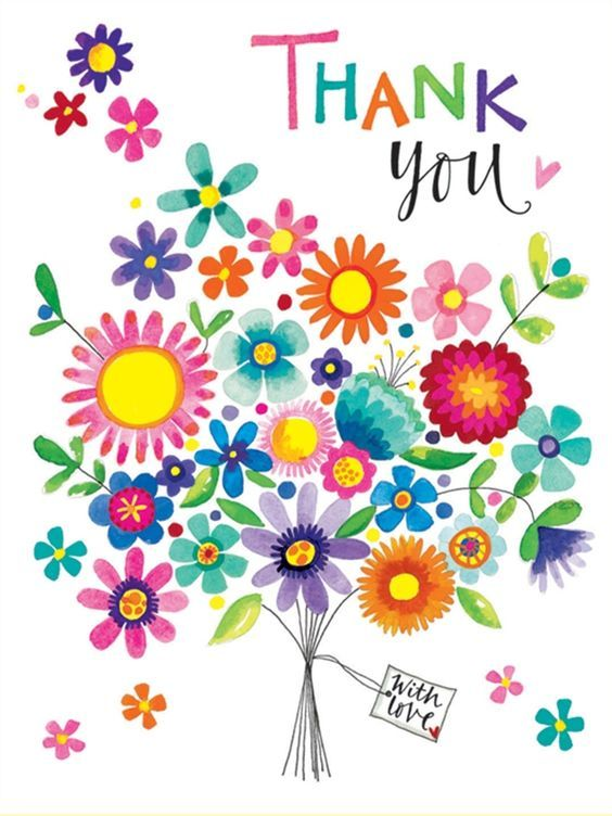 Thank you in flowers clipart clipart transparent Free clipart thank you flowers 2 » Clipart Station clipart transparent