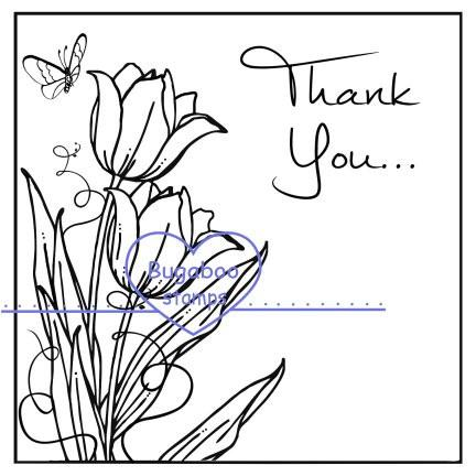 Thank you with tulip clipart royalty free library Thank you Tulip block royalty free library