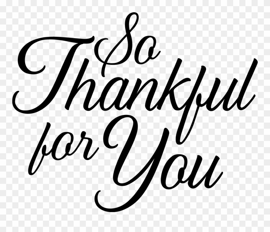 Thankful for you black and white clipart svg black and white So Thankful For You - Close To You By Kara Isaac Clipart ... svg black and white