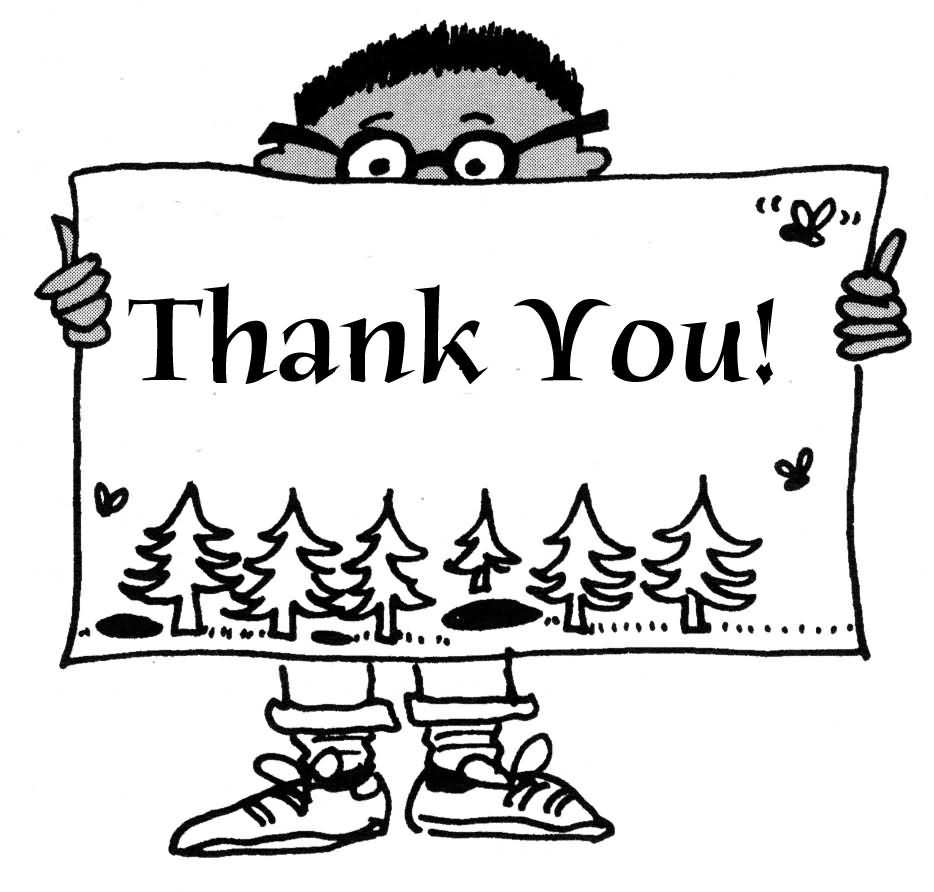 Thank you clipart black and white banner download Thank you black and white thank you free thank volunteer ... banner download