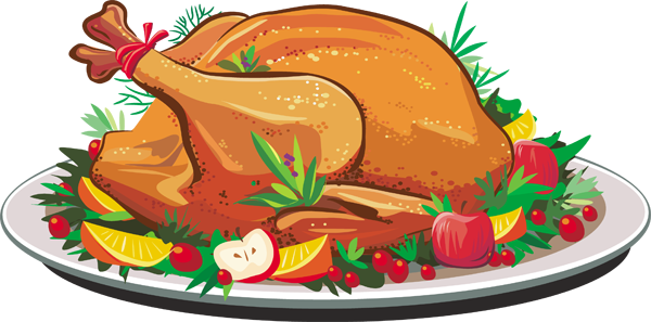 Thankgiving clipart for dinner vector library download Thanksgiving turkey turkey dinner clipart free clipart ... vector library download
