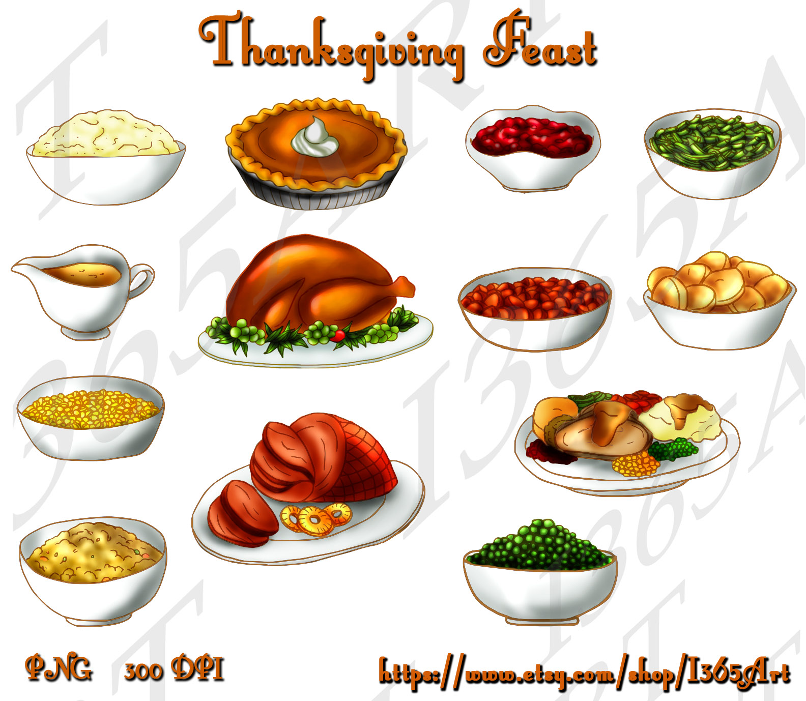 Thankgiving dinner clipart clipart graphic library download Thanksgiving Food Clipart - Clipart Kid graphic library download