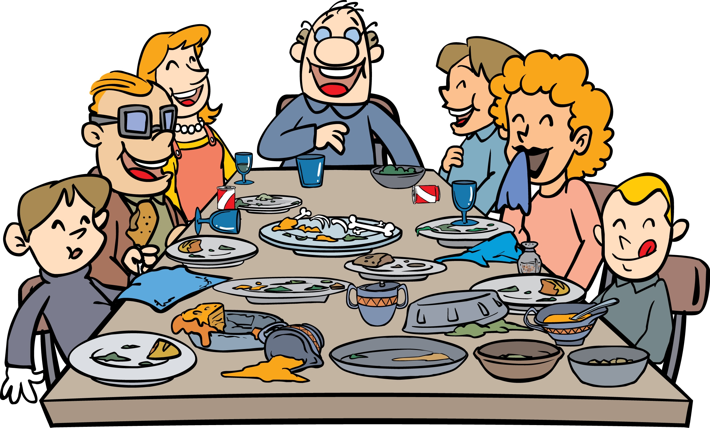 Thankgiving dinner clipart clipart freeuse Eating thanksgiving dinner clipart - ClipartFest freeuse