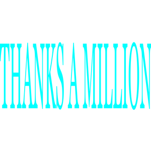 Thanks a million clipart svg library Thanks A Million clipart, cliparts of Thanks A Million free ... svg library