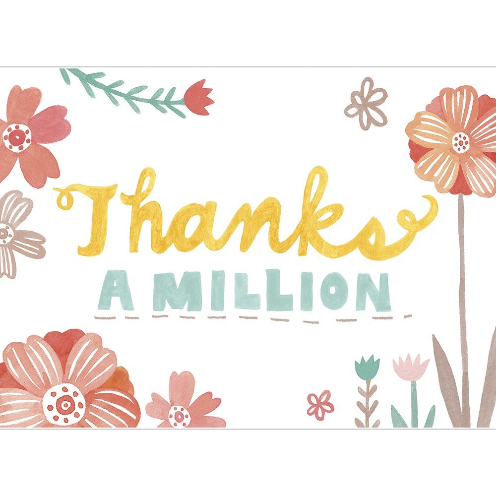 Thanks a million clipart vector transparent download Thanks a Million - Tree Free Greetings vector transparent download