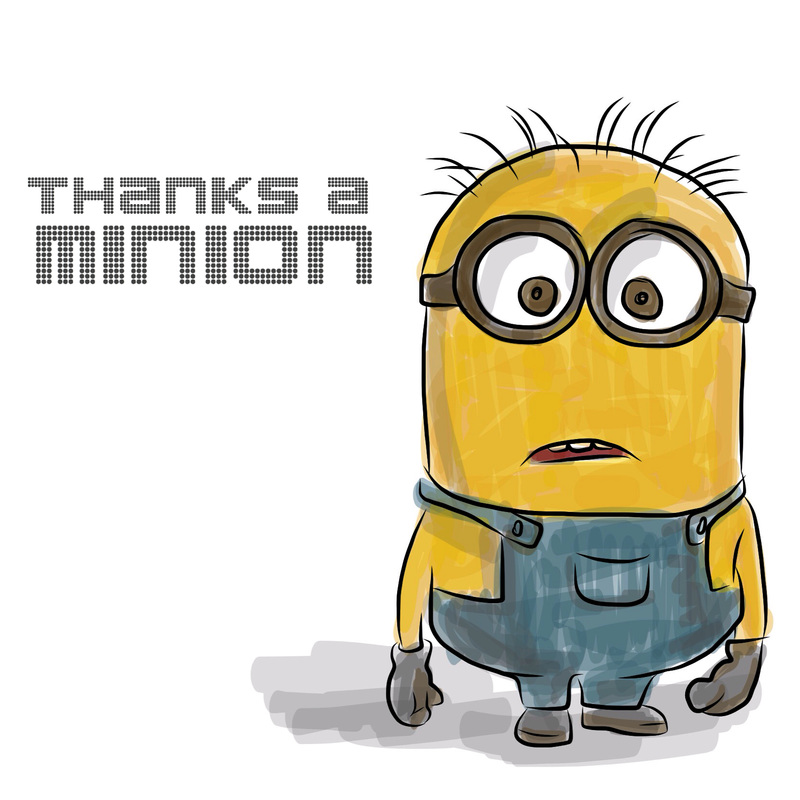Thanks for all your help minion clipart png freeuse Thanks a Minion! - Dryden Art png freeuse