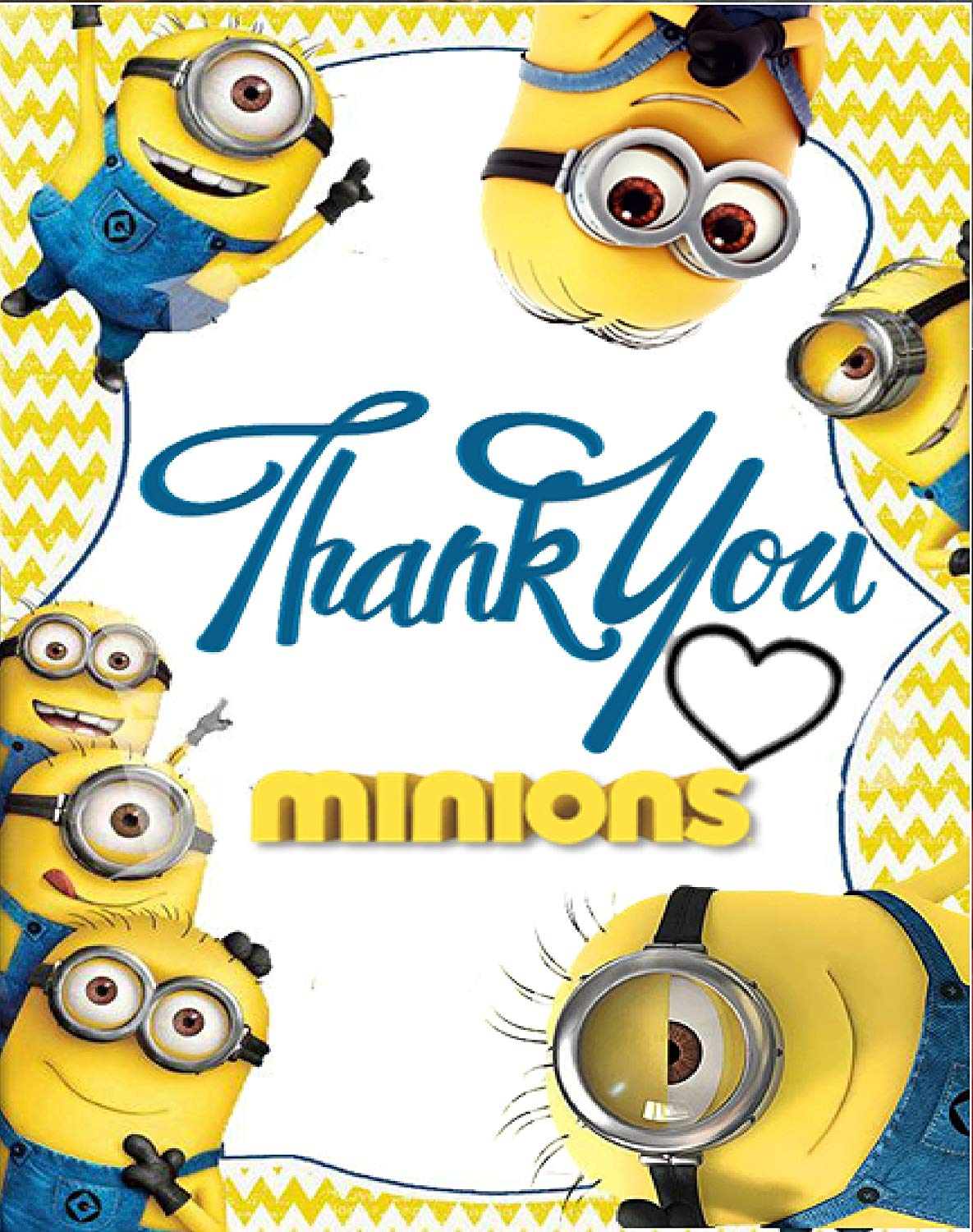 Thanks for all your help minion clipart clip royalty free download Minion Theme Thank You Tags (10 Pieces) for Minion Theme Birthday Party/  Kid\'s Birthday Minion Theme Thank You Cards for Gifts / Great Thank You  Tags ... clip royalty free download