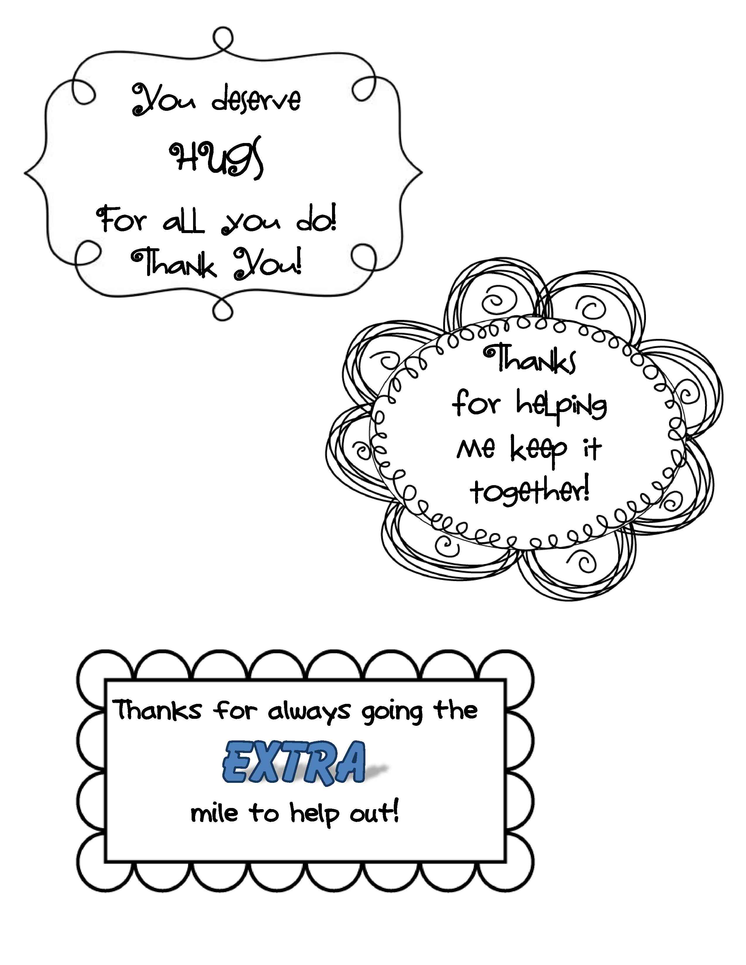 Thanks for going the extra mile gum clipart jpg library Quick and Easy Thank-You Gifts for Classroom Volunteers ... jpg library