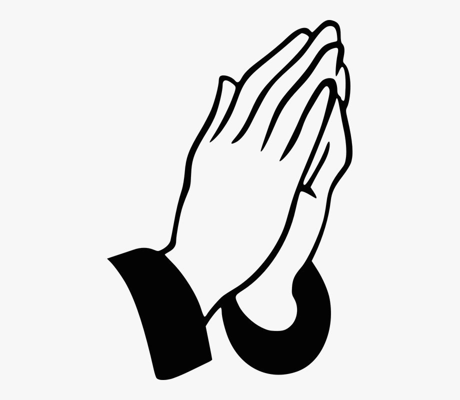 Thanks for the prayers black and white clipart clipart freeuse library Hands Praying Christian Pray Religious Prayer - Prayer For ... clipart freeuse library