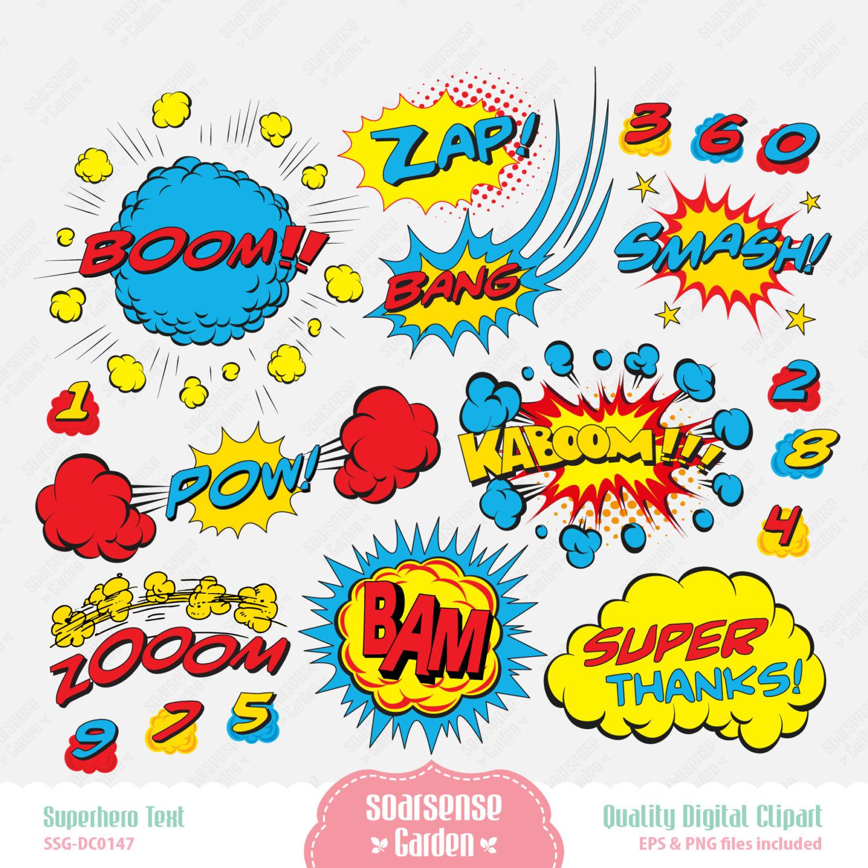 Thanks superhero clipart clip art royalty free stock Best Superhero Words #12063 - Clipartion.com clip art royalty free stock