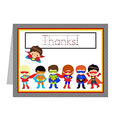 Thanks superhero clipart clip art free library Superhero Thank You Cards for Kids, Thank You Notes with Superheroes;  Superhero Thank You Notes Includes 12 Cards and Envelopes with Traceable ... clip art free library