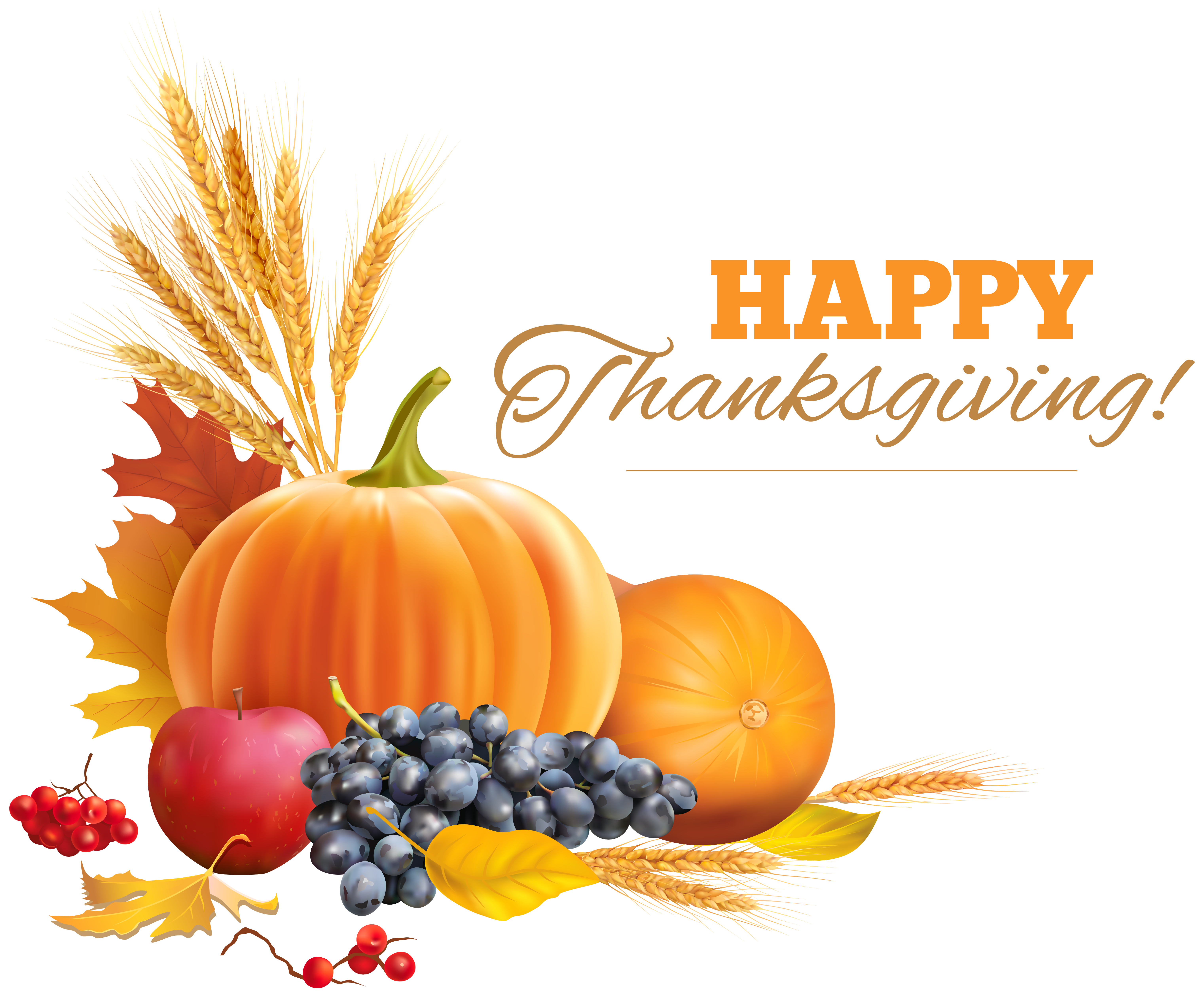 Thanksgivign free clipart picture download Happy Thanksgiving Decor PNG Clipart Image | Gallery ... picture download