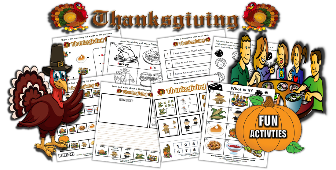 Turkey bingo clipart svg Thanksgiving - Activities, Games, and Worksheets for kids svg