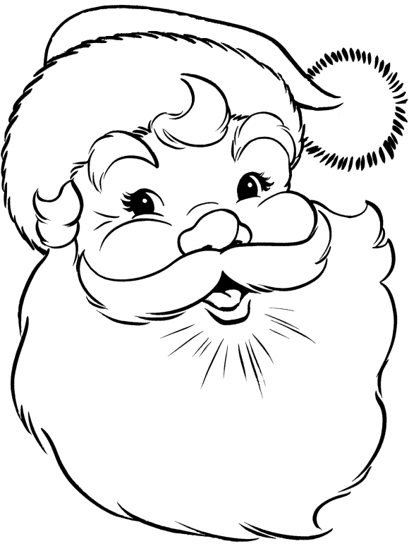 Thanksgiving boots coloring page clipart svg black and white library Face Of Santa Claus Coloring Pages - Christmas Coloring Pages ... svg black and white library