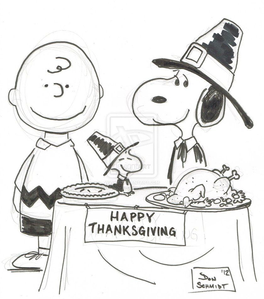 Thanksgiving charlie brown black and white clipart svg library library Pin by RamonaQ on Thanksgiving | Thanksgiving coloring pages ... svg library library