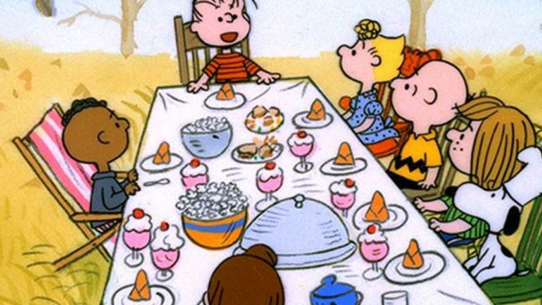 Thanksgiving charlie brown black and white clipart clipart free library Charlie Brown Thanksgiving\' criticized as racist | Fox News clipart free library