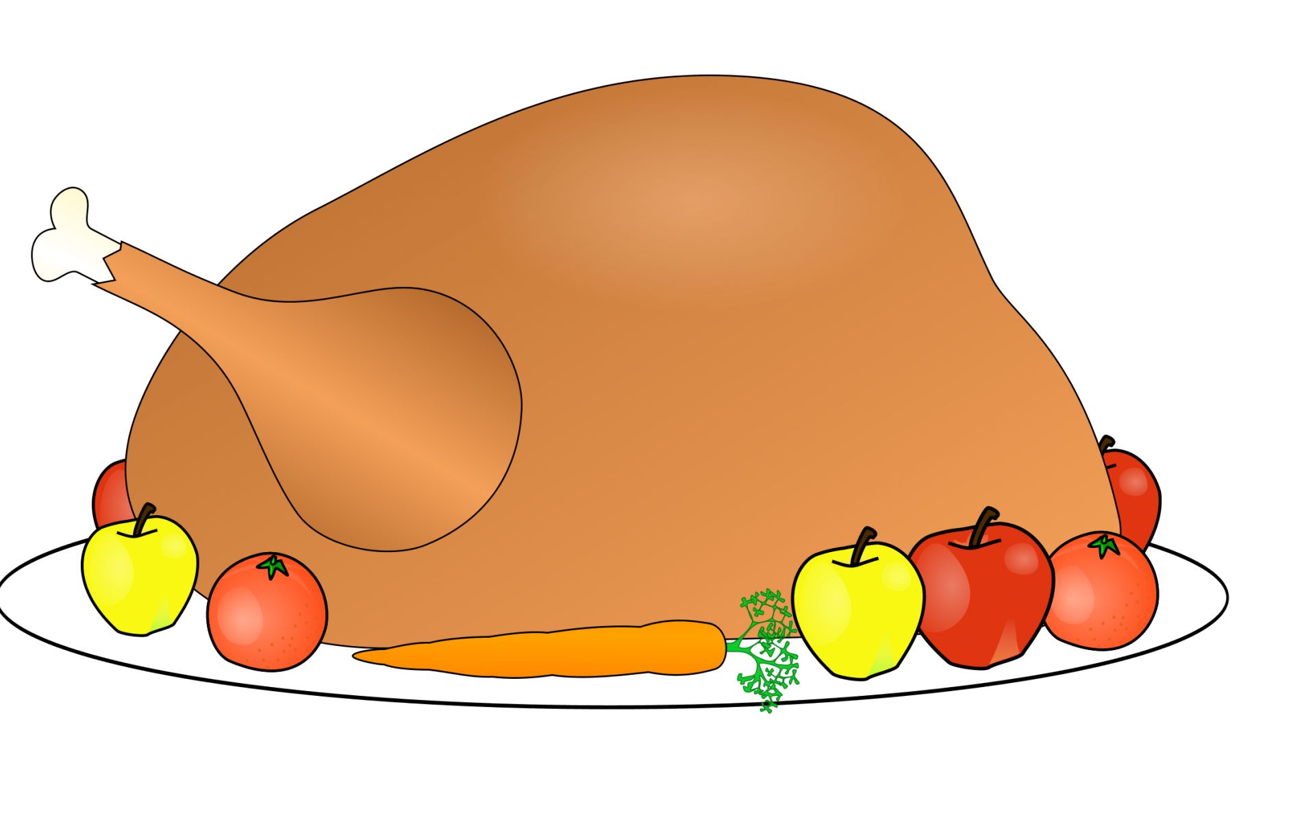 Thanksgiving clipart 1920 x1200 graphic royalty free Free Thanksgiving Turkey Clipart 5 - 2429 X 1401 | carwad.net graphic royalty free